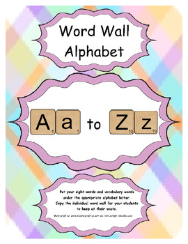 Alphabet Word Wall For Class and Students