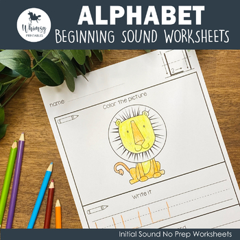 Alphabet Work - Trace and Color