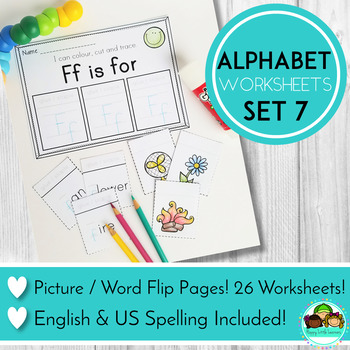 Alphabet Worksheets Letter Flip Pages