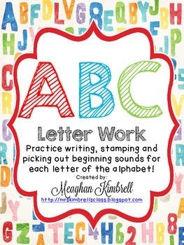 Alphabet Write, Stamp & Color Activity Sheets