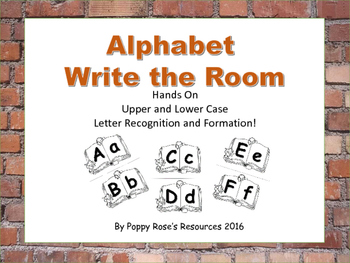 Alphabet Write the Room : Hands on Letter Recognition and