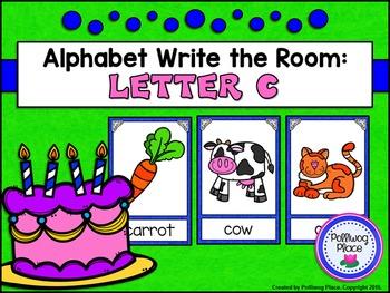 Alphabet Write the Room: Letter C
