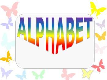 Alphabet cards - Butterflies