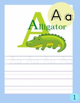 Alphabet Writing Book Freebie
