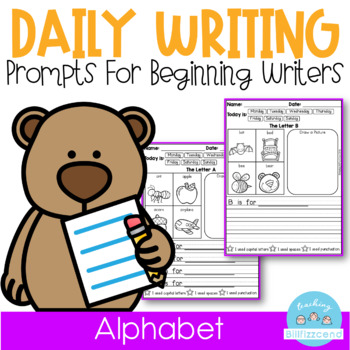 Alphabet Writing Journal Prompts for Beginning Writers