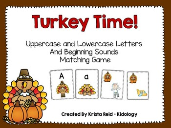 Thanksgiving  Letter Match Game