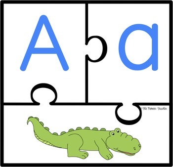 Alphabet {and Beginning Sounds} Puzzles