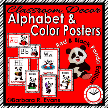 ALPHABET & COLOR POSTERS: Red & Black Edition