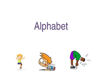 Alphabet and Exercise Slide Show