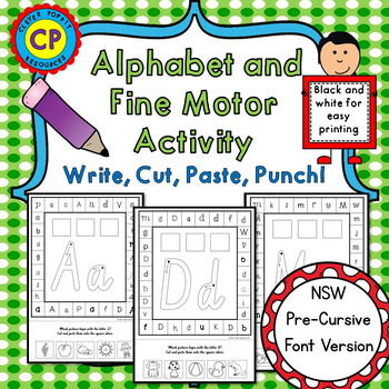 alphabet and fine motor activity write cut by clever poppit resources teachers pay teachers. Black Bedroom Furniture Sets. Home Design Ideas
