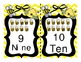 Alphabet  and Number Cards (Bee Themed)