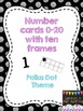 Alphabet and Number Cards Bundle- Polka Dot Style