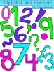 Alphabet and Number Doodle Clipart - Summer Colors