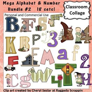 Alphabet and Number Mega Bundle #2 - 18 Sets! C. Sesler