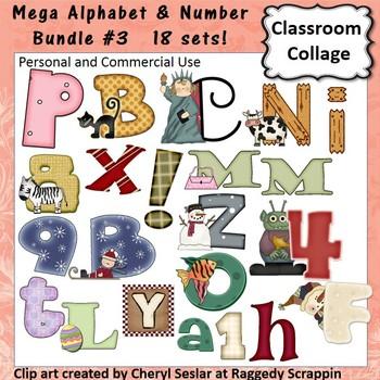 Alphabet and Number Mega Bundle #3 - 18 Sets! C. Sesler