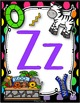 Alphabet and Number Posters (White Frames & Bright Polka D