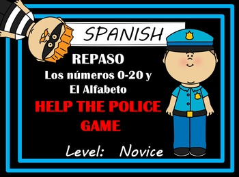 SPANISH - Alphabet and Numbers 1-20 Escape Review Game