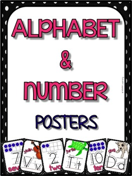 Alphabet and Numbers - Handwriting and Tens Frames (Posters)