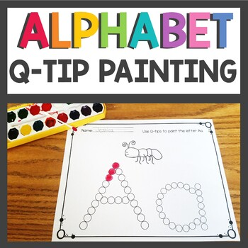 Alphabet and Number Worksheets Q-Tip Painting