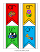Alphabet and Phonics Banner Classroom Decor in Bright Colors