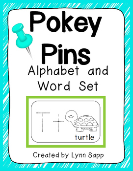 Alphabet and Word Pokey Pins