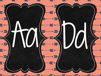 Alphabet (arrow themed)