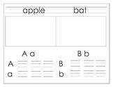 Alphabet Handwriting book w- Treasures Sound Spelling Card