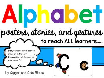 Alphabet for All Learners! Posters, Stories, and Gestures