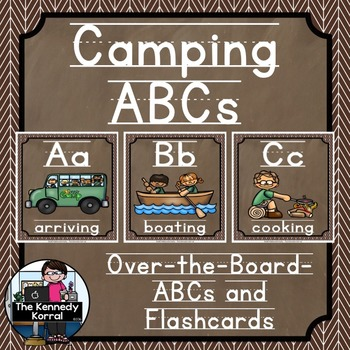 Alphabet Picture Cards & Flashcards {Camping}