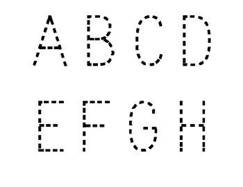 Alphabet for Tracing or PlayDough