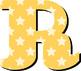 "Alphabet in Bright Stars - Fall Pastels - 91 Files - 6"" Hi"