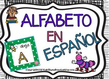 Alphabet in Spanish Polka Dots