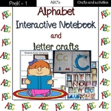 Alphabet interactive notebook and letter crafts