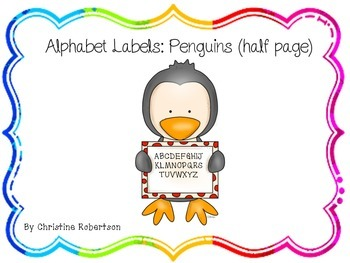 Alphabet labels: Penguins (Half page)