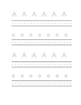 Alphabet letter A Writing Kindergarten Center Alphabet Rec