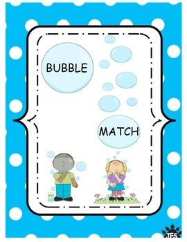 Alphabet letter bubble match