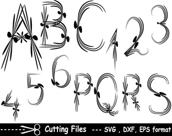 Alphabet letter numbers EPS SVG DXF school teachers Logo m