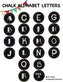 Alphabet letters A-Z {chalkboard}