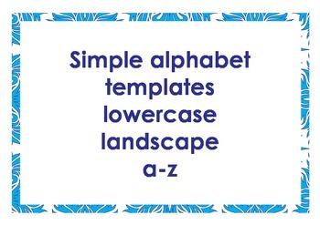 Alphabet outlines lowercase landscape