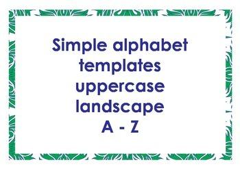 Alphabet outlines uppercase landscape