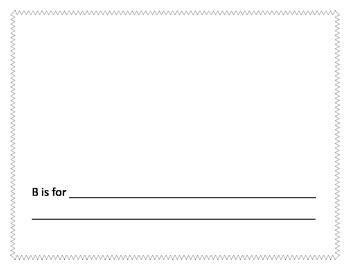 Alphabet picture book template