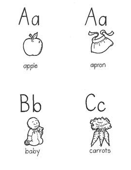 Alphabet pictures featuring original artwork!