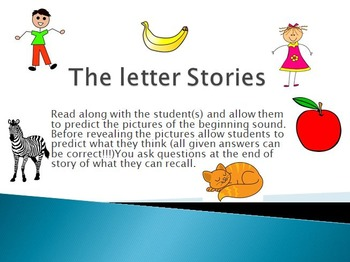 Interactive Alphabet picture and sight words stories (A-Z)