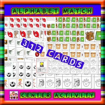 Alphabet-upper and lower case match cards -312 cards 6 themes