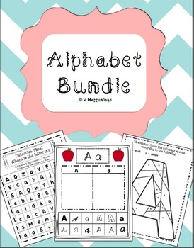 Alphabet Bundle - includes sorts, color by uppercase/lower