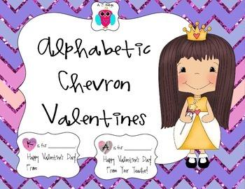 Alphabetic Chevron Valentines