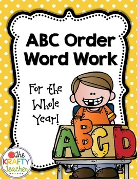 Alphabetic Order, ABC Word Work, Center, Station, First, S