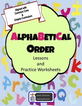 Alphabetical Order - Lessons, Activities, Review, Test, An