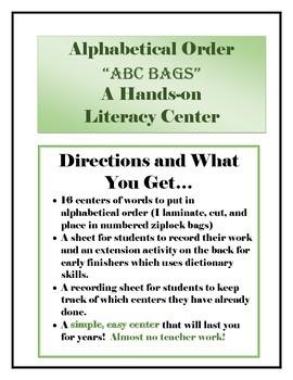 Alphabetical Order Learning Center