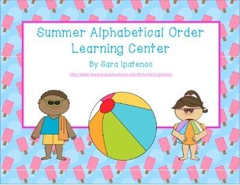 Alphabetical Order Literacy Center: Summer Theme